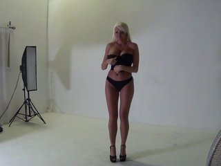 Hot blonde behind the scenes