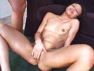 Horny Latina threeway DP