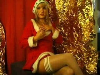 Blond Christmas girl