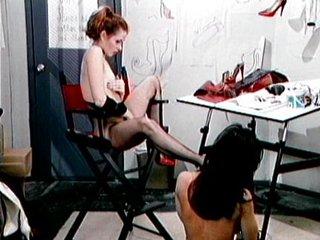 Latex boots fetish babes having fun