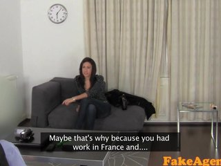FakeAgent Horny French mistress devours cock