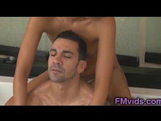 Sweet blonde Natalia Robles sucking cock