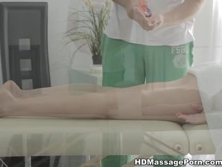Man massages hot Raphael with mouth lips